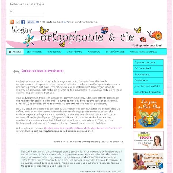 Qu'est-ce que la dysphasie