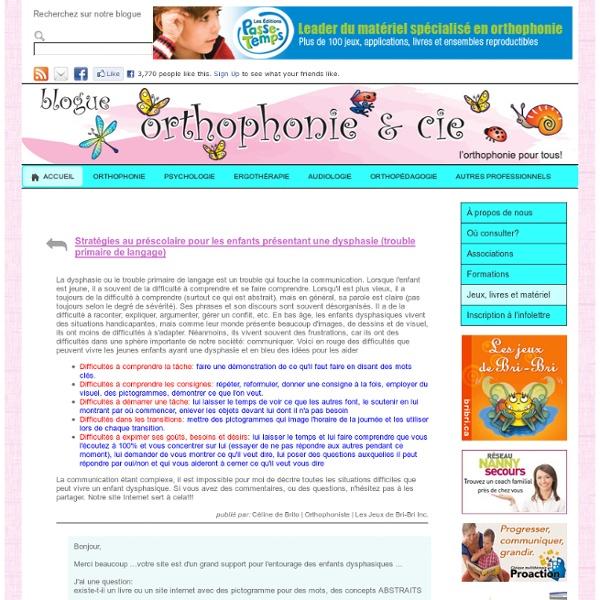 Stratégies au préscolaire pour les enfants présentant une dysphasie (trouble primaire de langage)
