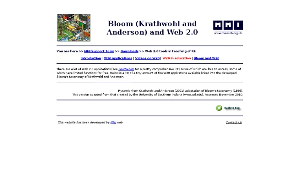 Bloom (Krathwohl and Anderson) and Web 2.0