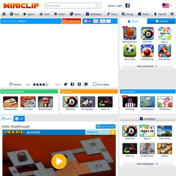 Bloxorz - Puzzle Games at Miniclip.com - Play Free Games