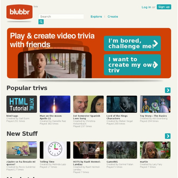 Play & create video trivia games