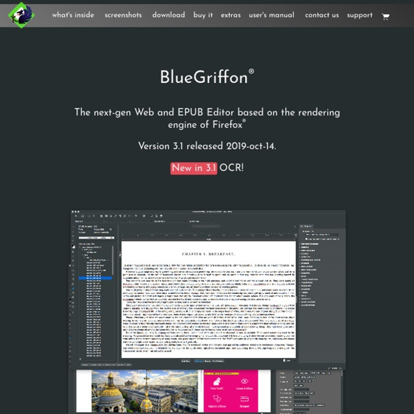 BlueGriffon, The next-generation Web Editor based on the rendering engine of Firefox