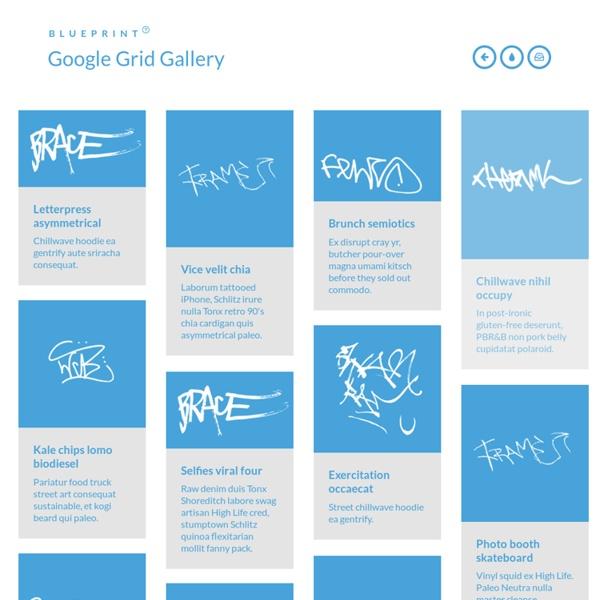 Blueprint: Google Grid Gallery