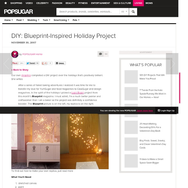 DIY: Blueprint-Inspired Holiday Project