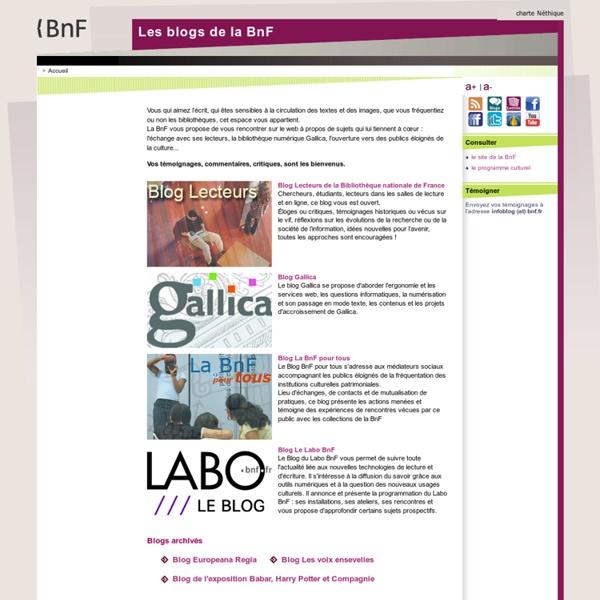 BnF - Blogs - Accueil