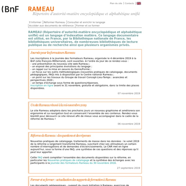BnF-RAMEAU : Accueil