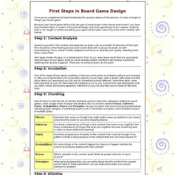 board game design first steps game design ideas