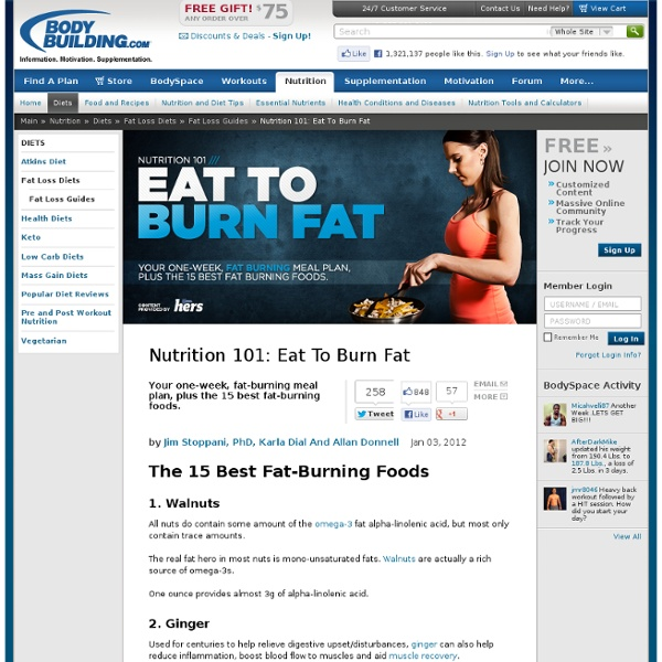 Nutrition 101: Eat To Burn Fat - StumbleUpon