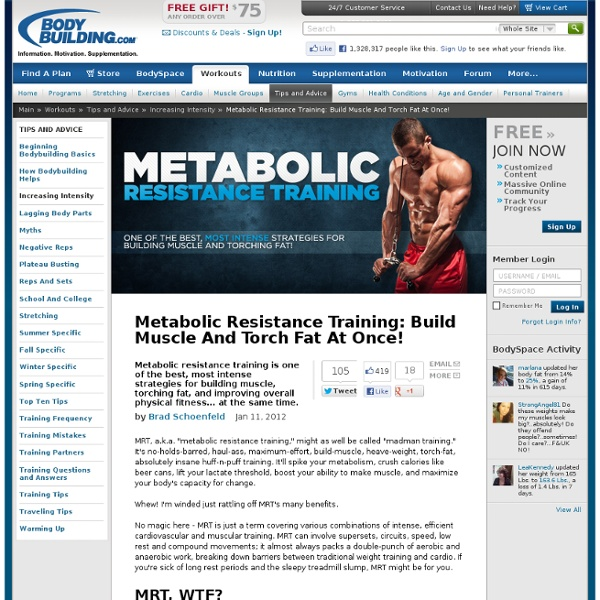 Metabolic Resistance Training: Build Muscle And Torch Fat At Once! - StumbleUpon
