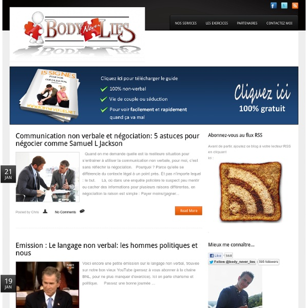 Bodyneverlies.net - expert en communication non verbale