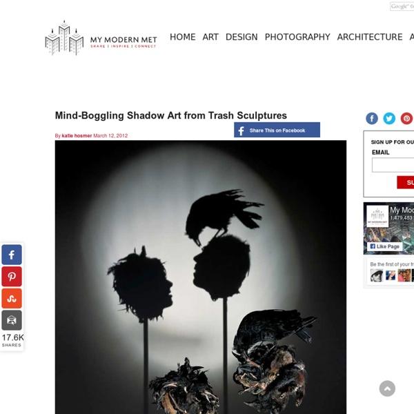 Mind-Boggling Shadow Art from Trash Sculptures