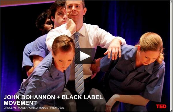 John Bohannon : Danse contre Powerpoint, une proposition modeste !