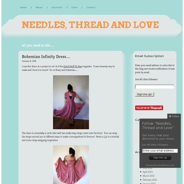 Bohemian Infinity Dress… « Needles, Thread and Love