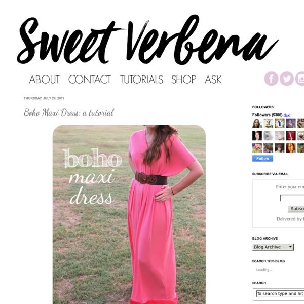 Boho Maxi Dress: a tutorial