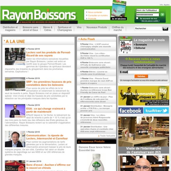 Rayon Boissons - Le magazine des boissons en grande distribution