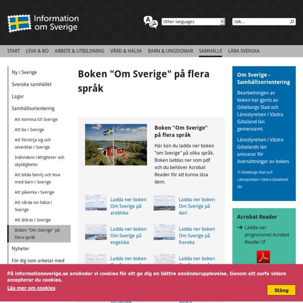 "Boken ""Om Sverige"" på flera språk"