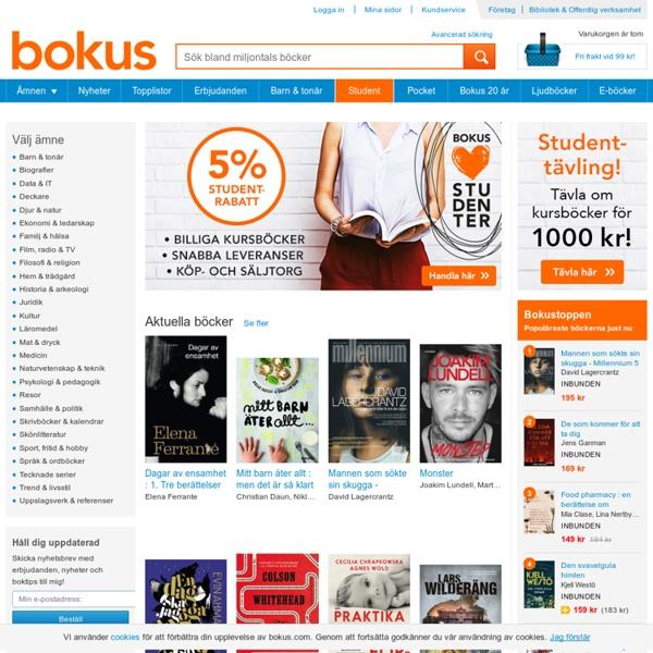 Bokhandel: Handla böcker online - billigt, snabbt & enkelt!