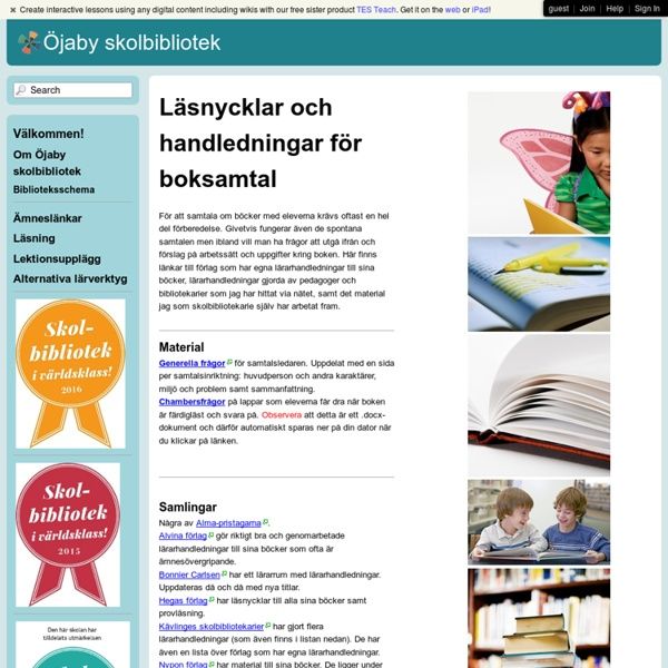 Öjaby skolbibliotek - Boksamtal