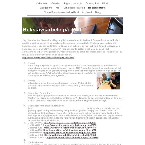 Bokstavsarbete på iPad