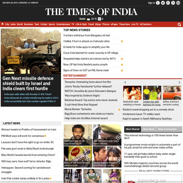 The Times of India: Latest News India, World & Business News, Cricket & Sports, Bollywood