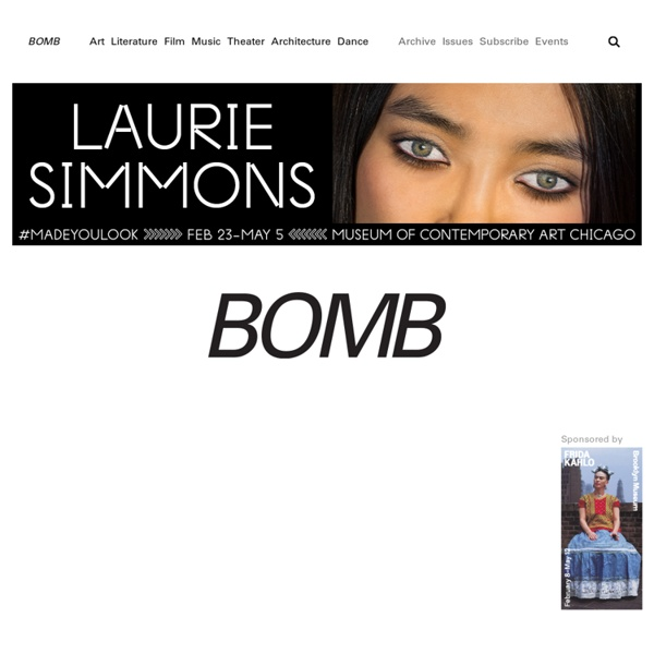 BOMB Magazine: Home Page