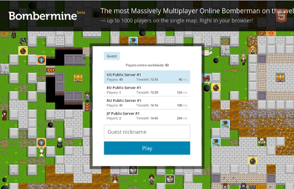 Massively Bomberman Online with up to 1000 players on the single map
