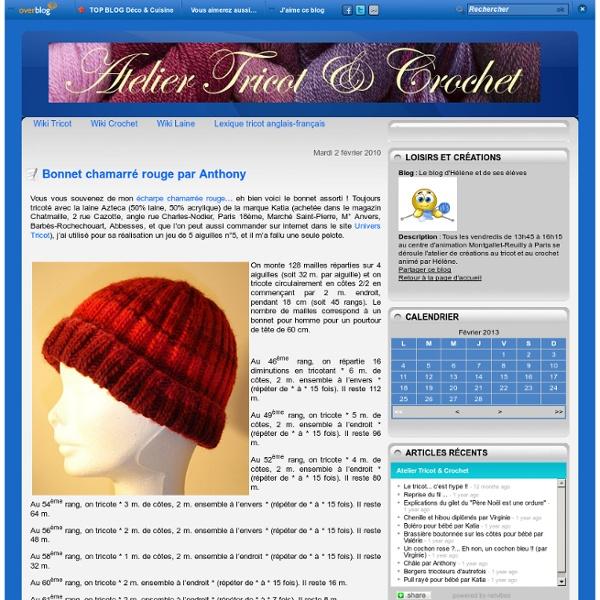 Bonnet chamarré rouge