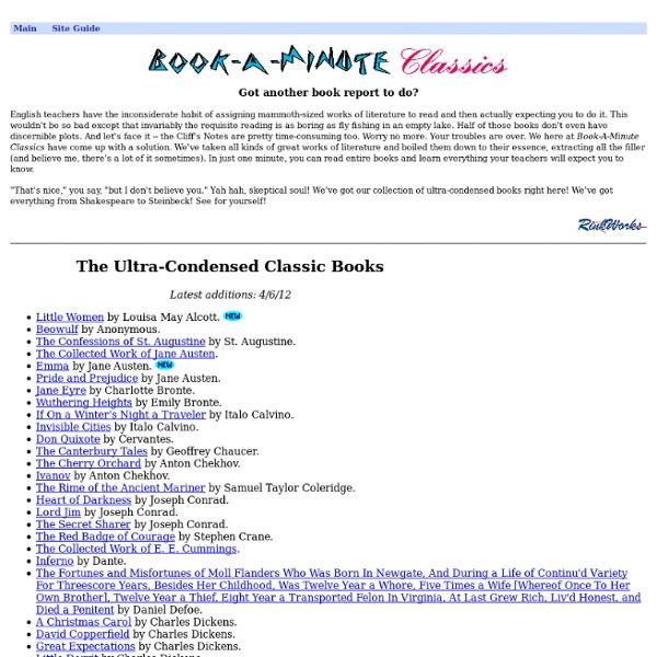 Book-A-Minute Classics