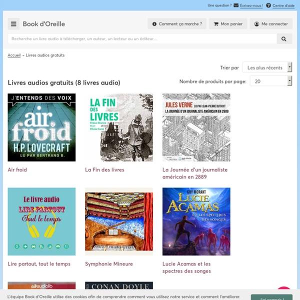 Book d'Oreille : livres audio gratuits