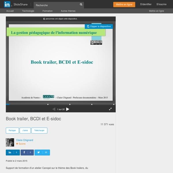 Book trailer, BCDI et E-sidoc
