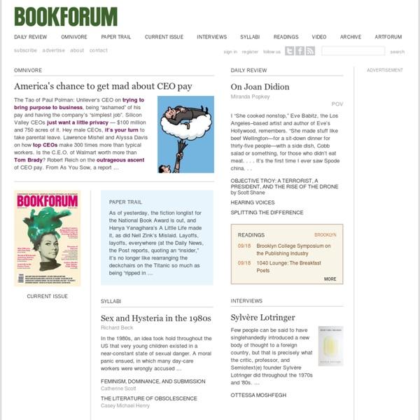 Bookforum.com / home