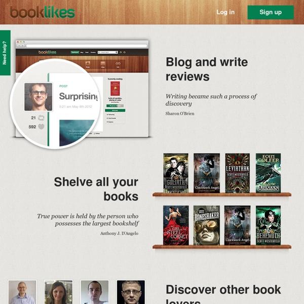 BookLikes - Blog platform designed for book lovers