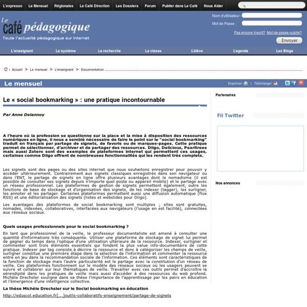 Le «social bookmarking»: une pratique incontournable