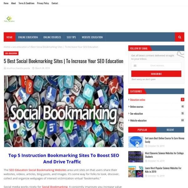 5 Best Social Bookmarking Sites