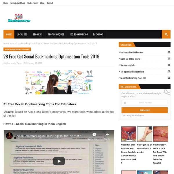 28 Free Get Social Bookmarking Optimisation Tools 2019