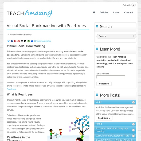 Visual Social Bookmarking with Pearltrees - Teach Amazing!