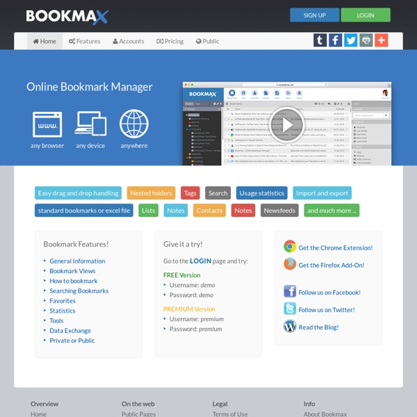 Bookmax - Online Bookmark Manager