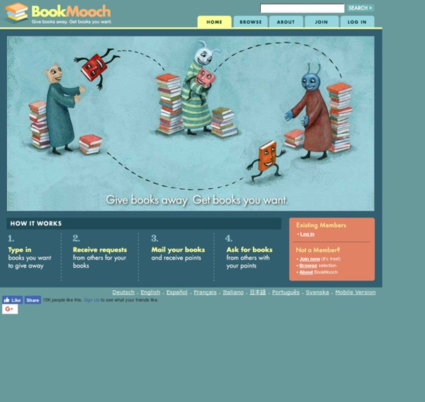 BookMooch: trade your books with other people