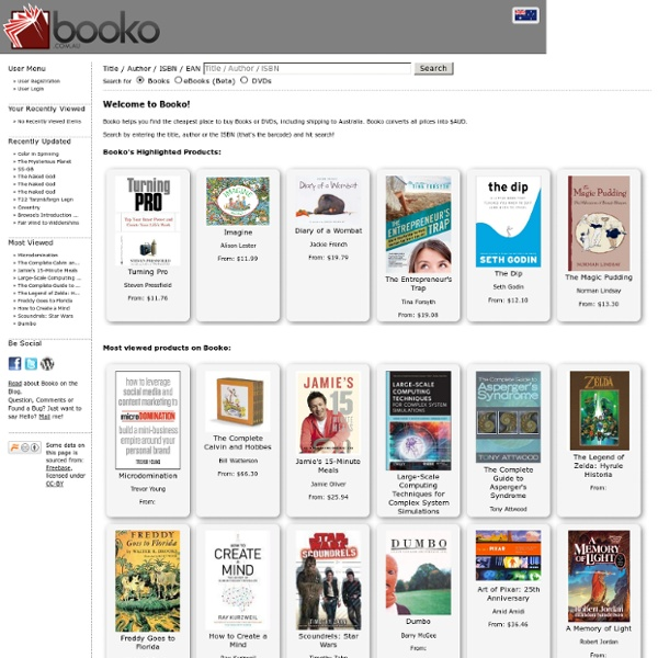 Booko: Compare book & DVD prices in Australia with Booko
