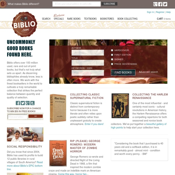 Biblio.com: Search Used Books, Textbooks, Rare Books, & Out of Print Books from Independent Booksellers