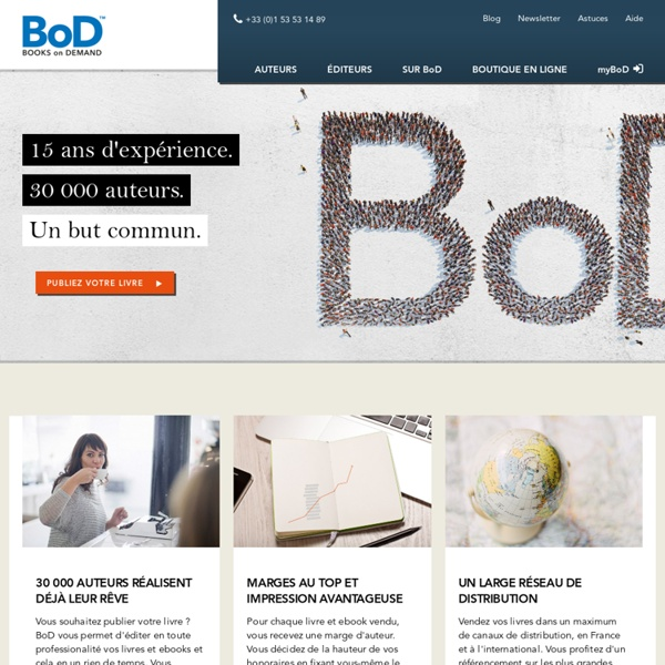 BoD - Publier un livre
