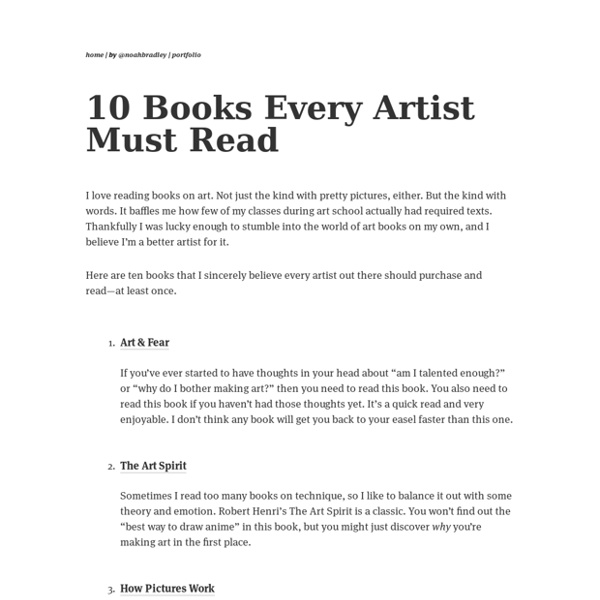 10 Books Every Artist Must Read