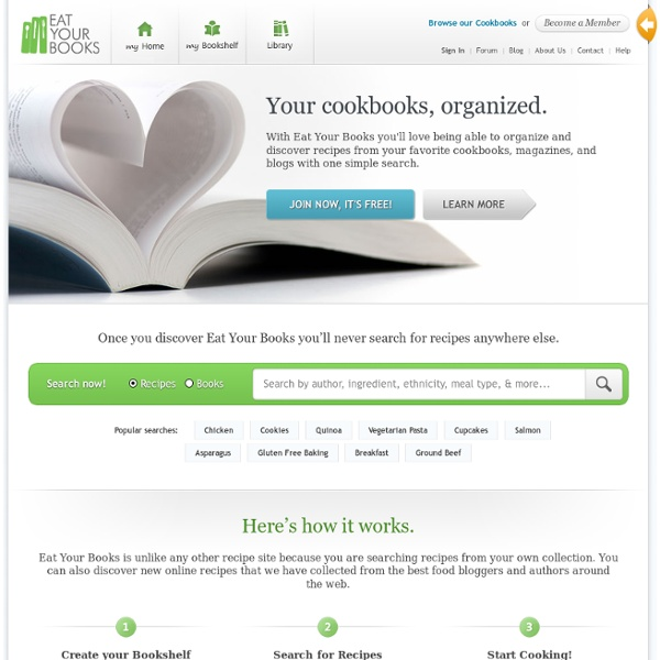 Eat Your Books - A search engine for your cookbooks!