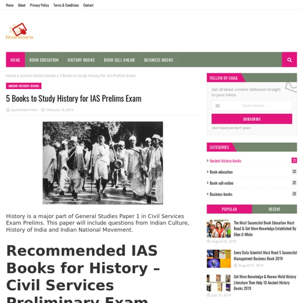 5 Books to Study History for IAS Prelims Exam