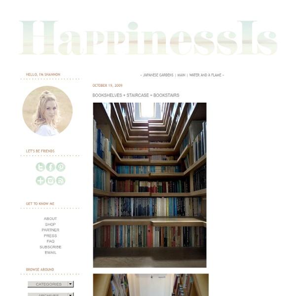 Bookshelves + Staircase = Bookstairs