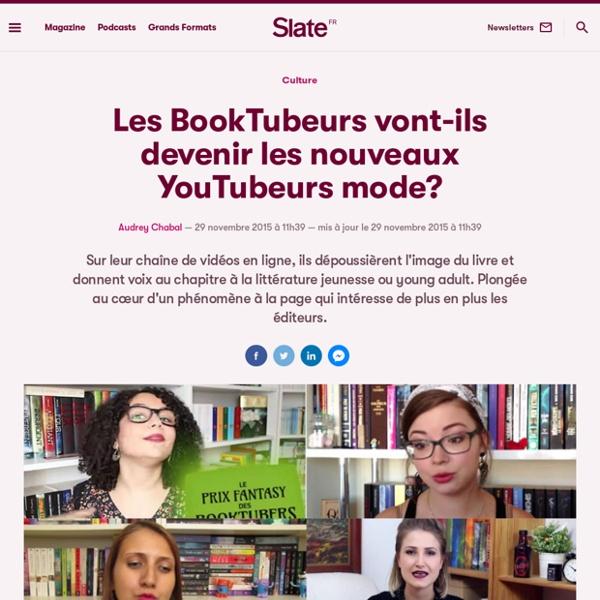 Les BookTubeurs vont-ils devenir les nouveaux YouTubeurs mode?