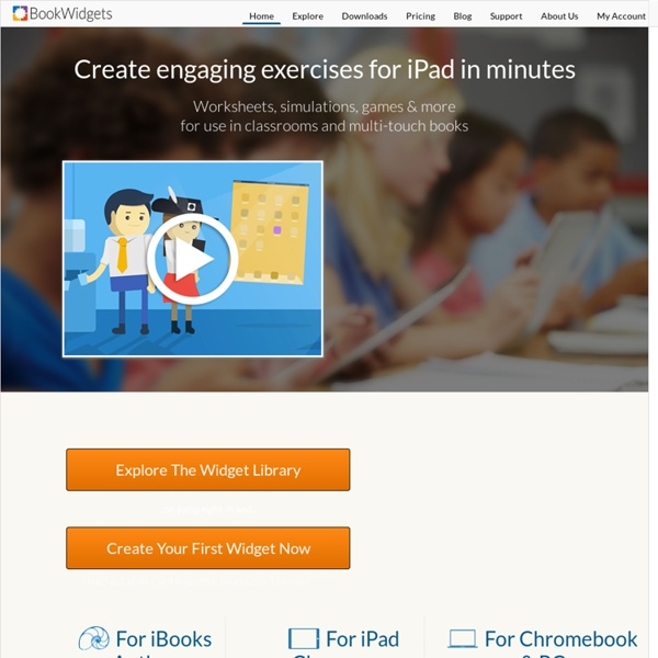 BookWidgets - A must-have for creative teachers in 1:1 iPad classrooms