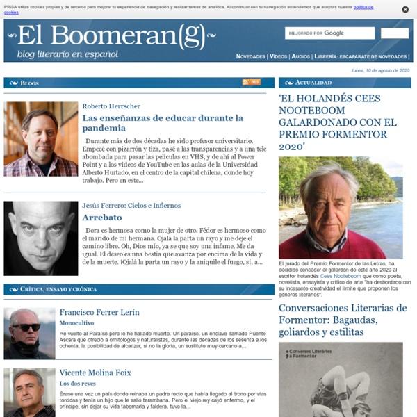 Blog literario en español