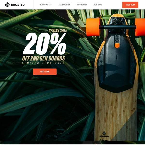 Boosted Boards - Motorized Longboards- World's Lightest Electric Vehicle