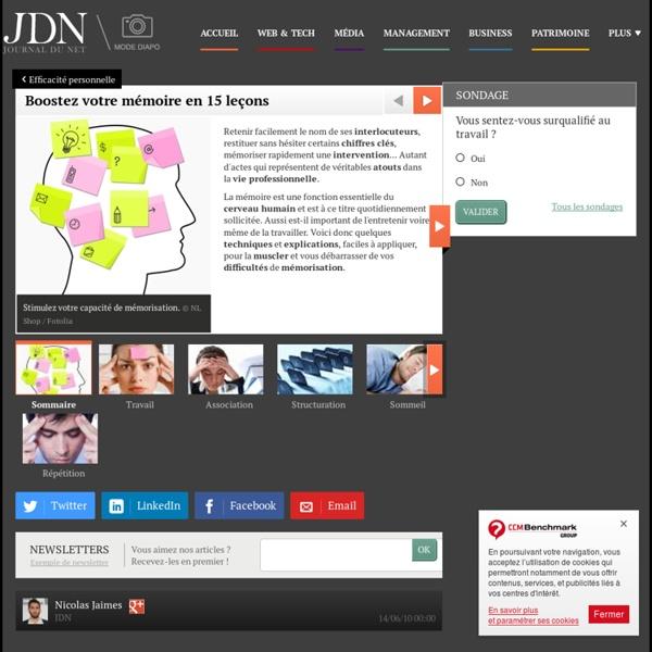 Boostez votre mémoire en 15 leçons - Journal du Net Management